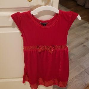 """NWOT """"George"""" Red Velvet Dress"""
